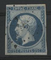 N° 15  25 Ct Bleu Cote 290 € (description) - 1853-1860 Napoleon III
