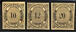 MEXICO 1875 - MLH - Sc# JX10, JX11, JX12 - Porte De Mar - Mexique