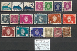 [858397]TB//O/Used-c:26e-Norvège  - Tb Lot Obl/Used Postes Annexes - Aérienne - Service - Officials