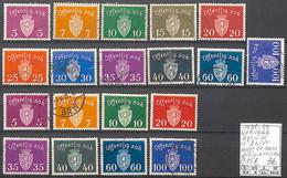 [858394]TB//O/Used-c:15e-Norvège 1937-39 - S22/40, Avec Et Sans Filigrane, Armoiries - Officials
