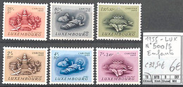 [859331]TB//**/Mnh-c:33e-Luxembourg 1955 - N° 500/05, Enfants - Neufs