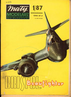 Mały Modelarz 1987.01 Ciężki Smolot Myśliwski BRISTOL BEAUFIGHTER MK VIF - Paper Models / Lasercut