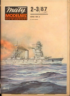 Mały Modelarz 1987.02-03 Okręt Liniowy Oktiabrskaja Rewolucja - Paper Models / Lasercut