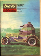 Mały Modelarz 1987.05 Polskie Samochody Pancerne Wz.34, 29, 28 - Paper Models / Lasercut