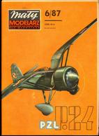 Mały Modelarz 1987.06 Polski Samolot Myśliwski PZL P-24G - Paper Models / Lasercut