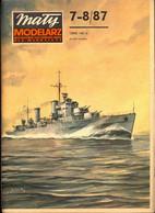 Mały Modelarz 1987.07-08 Lekki Krążownik Brytyjski HMS Penelope - Paper Models / Lasercut