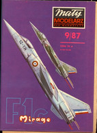 Mały Modelarz 1987.09 Samolot Myśliwsko-bombowy Mirage F1C - Paper Models / Lasercut