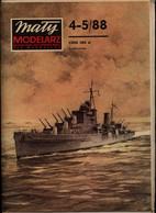 Mały Modelarz 1988.04-05 Krążownik Przeciwlotniczy HMS Dido - Paper Models / Lasercut