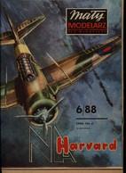 Mały Modelarz 1988.06 Samolot Szkolno-treningowy North American Harvard Mk. II B - Paper Models / Lasercut