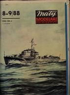 Mały Modelarz 1988.08-09 Duży ścigacz Okrętów Podwodnych Typu Kronsztad - Paper Models / Lasercut