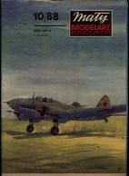 Mały Modelarz 1988.10 Samolot Bombowy Iljuszyn Ił-4 - Paper Models / Lasercut