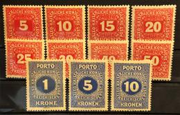 AUSTRIA 1916 - MLH - ANK 47-54 - Complete Set! - Portomarken - Taxe