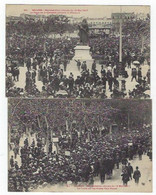 2 CPA BEZIERS - Manifestation Viticole Du 12 Mai 1907 - Beziers