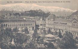 SANTIAGO / PLAZA DE ARMAS - CERRO SANTA LUCIA Y CORDILLERA DE LOS ANDES - Chile