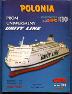 GPM 953 Prom Unity Line ''POLONIA'' - Paper Models / Lasercut