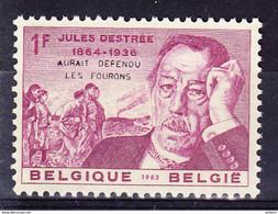 """1269 **, JULES DESTREE Surchargé """"Aurait Défendu Les Fourons"""" - Private & Local Mails"""