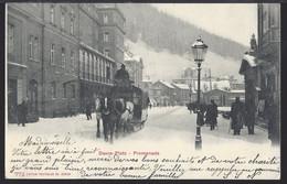 Davos Platz Promenade - Diligence - Postkutsche - 1904 - GR Grisons