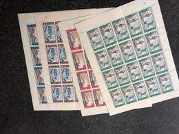 Belgie 1966 1385/88 INCL VARIETEITEN Volledig Vel FULL SHEET MNH PLAATNUMMER XXXX - Panes