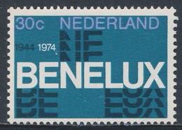 """1974 Joint Issue / Gemeischaftsausgabe Nederland Mi 1035 YT 1006 SG 1196 ** 30 Jr. """"BENELUX"""" -  Benelux Customs Union - Gemeinschaftsausgaben"""