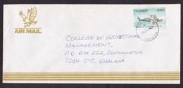 Uganda: Airmail Cover To UK, 1999, 1 Stamp, Dornier Airplane Aviation, Rare Real Use, Cancel Tororo (minor Discolouring) - Oeganda (1962-...)