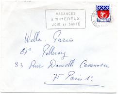 PAS De CALAIS - Dépt N° 62 = WIMEREUX 1968 = FLAMME Codée = SECAP  ' VACANCES / JOIE Et SANTE ' - Annullamenti Meccanici (pubblicitari)