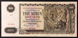 Slovacchia 1000 KORUN 25.11.1940 Pick#13s CAMPIONE Q.spl LOTTO 618 - Slovacchia