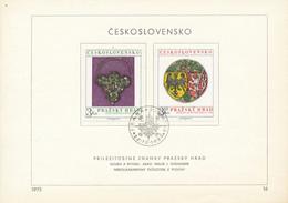 Czechoslovakia / First Day Sheet (1975/16) Praha 012 Hrad: Prague Castle (gold Earrings, Case The Royal Crown) - Archéologie