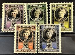 LUXEMBOURG 1926 - MLH - Sc# B15-B19 - Ungebraucht