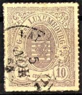 LUXEMBOURG 1865/74 - Canceled - Sc# 19b - 1859-1880 Wappen & Heraldik