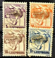 LUXEMBOURG 1925 - Canceled - Sc# B11-B14 - Oblitérés