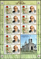 """Artsakh 2021 """"Famous People Of Shushi. Armen Takhdajan.Botanist, Evolutionary Biologist"""" Sheet Quality:100% - Armenia"""