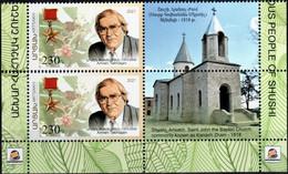 """Artsakh 2021 """"Famous People Of Shushi. Armen Takhdajan.Botanist, Evolutionary Biologist"""" Block Of 2v Zf Quality:100% - Armenia"""