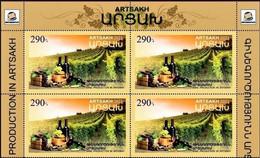 "Artsakh 2021 ""Winer Production In Artsakh"" Block Of 4v Quality:100% - Armenia"