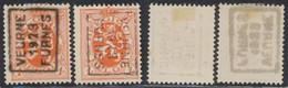 """Lion Héraldique - N°276 Préo """"Veurne 1929 Furnes"""" Position A/B Complet (n°4984) - Roulettes 1920-29"""