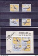 NORVEGE 1979 AVIONS Yvert  761-764 + BF 3 NEUF** MNH - Ongebruikt