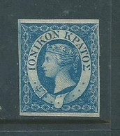Great Britain, Ionian Islands, VRI, 1859 (2d) Blue, MH * - Other