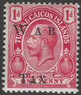 Turks & Caicos Islands. 1919 War Tax 1d MH. SG 152 - Turks & Caicos