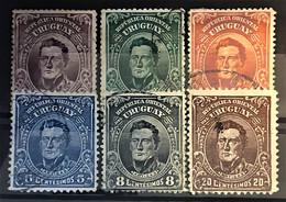 URUGUAY 1910 - Canceled - Sc# 187-192 - Uruguay