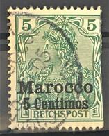 GERMAN OFFICES IN MAROCCO 1901 - Canceled - Mi 8 I - 5pf - Kantoren In Marokko