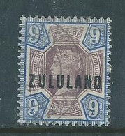 South Africa, Zululand, VRI, 1894, ZULULAND Opt On GB,, 9d, Used - Zululand (1888-1902)