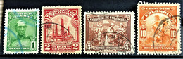 COLOMBIA 1939 - Canceled - Sc# 467-470 - Colombie
