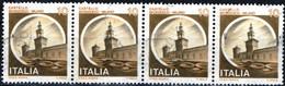 ITALIA, ITALIE, ITALY, CASTELLO SFORZESCO – MILANO, 1980, 10 £, USATO – LISTA DI 4 Mi.: IT 17021, Scott: 1409 - 1971-80: Usados