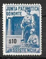 Portugal 1919/1919 - Vinheta Da Junta Patriótica Do Norte - $10 - Unused Stamps