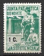 Portugal 1919/1919 - Vinheta Da Junta Patriótica Do Norte - 1 C - Unused Stamps