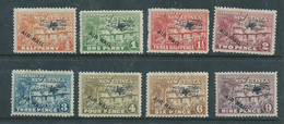 New Guinea, 1931, Air Mail, 1/2d - 9d, MH * - Papoea-Nieuw-Guinea