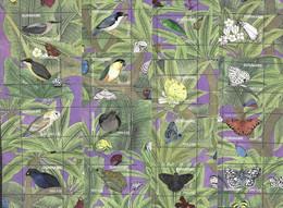 SURINAME, 2021, MNH, BIRDS, OWLS, PARROTS, INSECTS,BUTTERFLIES, FROGS, 16 S/SHEETS - Eulenvögel