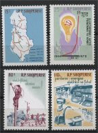 ALBANIA, 25th YEARS ANNIVERSARY OF THE ELECTRICITY PLAN 1970,NH SET - Albania