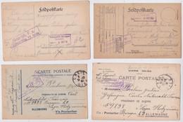 Carte Postale Prisonnier De Guerre Français Poulain Jules Creil Holzminden Lager Camp Lot 4 Cartes Censure Franchise POW - Oorlog 1914-18