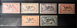 Syria, Syrie,Syrien, 1923, Stamps 3 Lines OMF  Complete Set, MH* - Unused Stamps