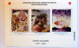 SMOM 2021, CENTENARIO DANTE ALIGHIERI, SHEET MNH** - Malte (Ordre De)